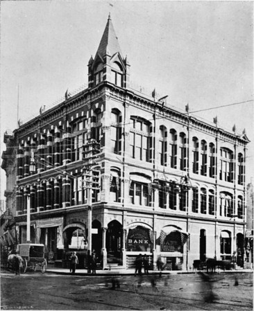 Los Angeles National Bank Building, northeast corner of First Street and Spring Street in Downtown Los Angeles (where City Hall stands today)