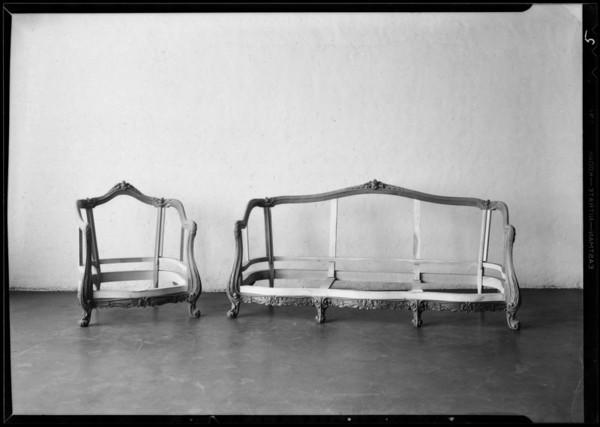 Furniture frames, Murdock & Wilseck, Southern California, 1930