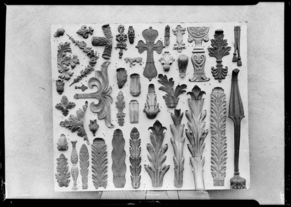 Boards of samples for draughtsmen, Southern California, 1926