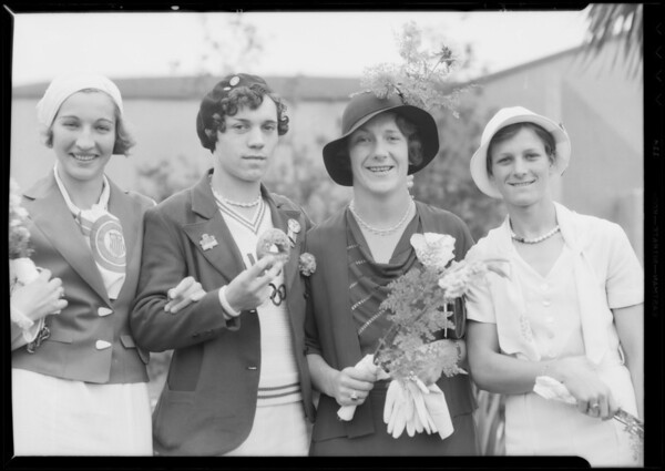 1932 Olympic Gold Medal Winners, California Breakfast Club, Los Angeles, CA, Aug. 8, 1932