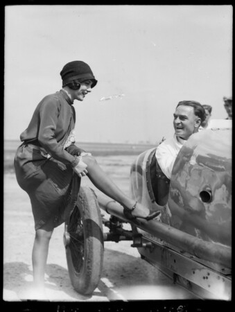 At the race track, Culver City, CA, 1927