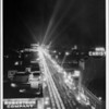 Hollywood Boulevard east from Highland at night, Robertson Company, Citizens National Bank