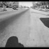 Road scenes at San Dimas, Mr. George B. Hanawalt with Harry Parker, San Dimas, CA, 1930