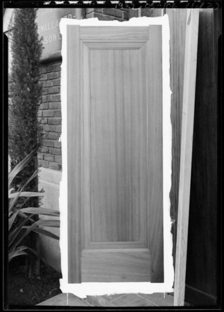 Doors at Cadwallader-Gibson Co. Incorporated plant, East 9th Street, for Mr. Pickering, Southern California, 1927