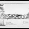 Drawing of Bel Air residence, Southern California, 1927