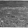 Aerial view of downtown Los Angeles and surrounding metropolitan area