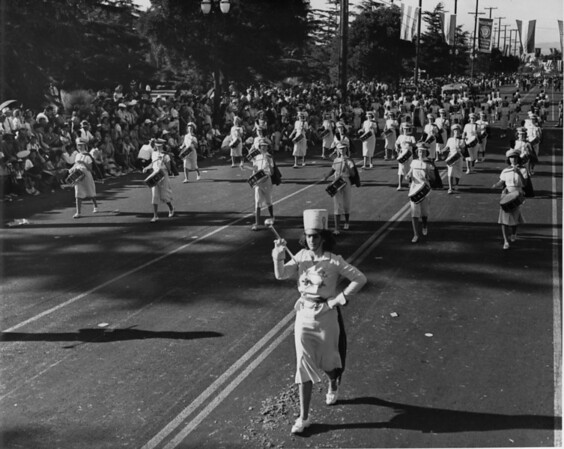 American Legion parade, Long Beach, female drum corps