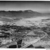 Aerial view of Indio, California, facing west