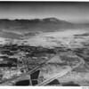 Aerial view of Indio, California, facing west