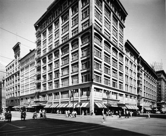 Bullocks Department Store located on the corner of Seventh Street and Hill Street