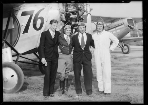 Endurance plane, Bobbi Trout, Southern California, 1932