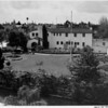 Residential home in 1948, landscaping, private garden