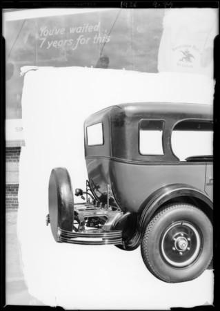 Studebaker & trunk rack, Southern California, 1926