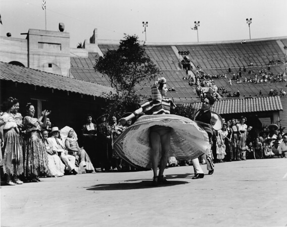 Mexican folk dancers performing at Coliseum