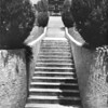 A stairway in the Japanese gardens in Hollywood