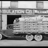 Chevrolet trucks belonging to U.S. Paper Co., Southern California, 1930
