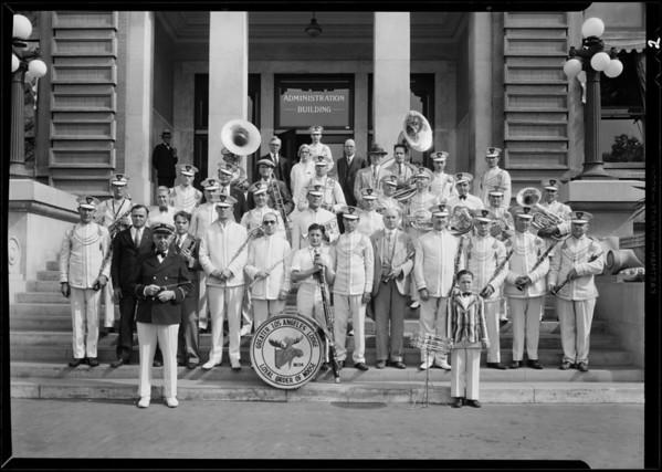 Moose band at hospital, Southern California, 1931