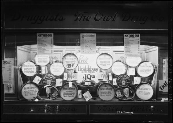 Healthbuoy windows, Southern California, 1927