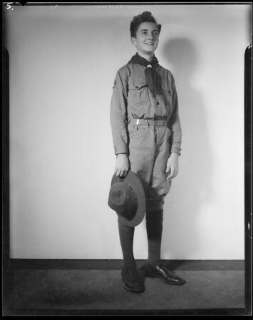 Ed in scout uniform, Southern California, 1934
