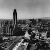 Aerial view of Wilshire Boulevard looing west from New Hampshire Street