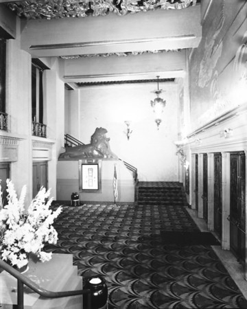 Inside lobby of the Paramount Theatre on Sixth Street, Downtown Los Angeles