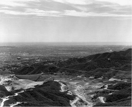 The skyline seen from the mountains of Hollywood Hills