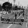 """American Legion parade, Long Beach, delegation from New Hampshire """"The Land of Scenic Splendor"""""""