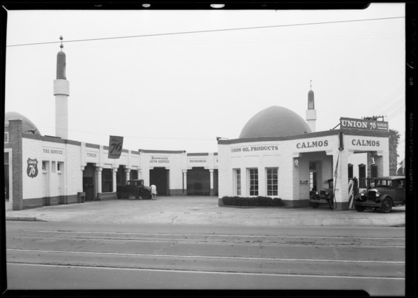 Service station, North Alexandria Avenue & Hollywood Boulevard, Los Angeles, CA, 1932