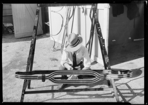 Standard safety bumpers, Southern California, 1925