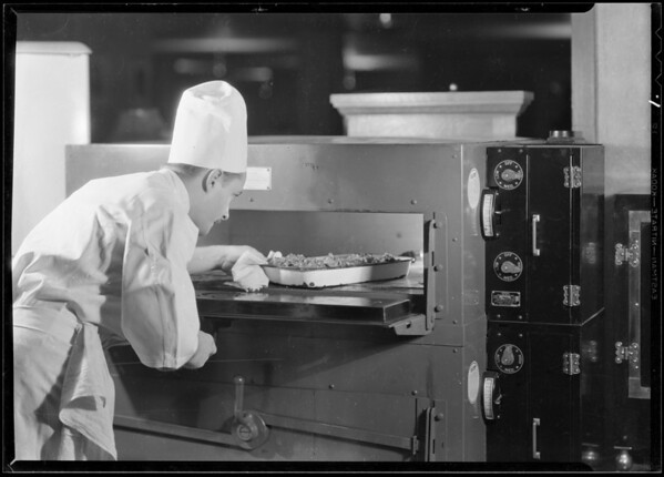 Restaurant- electric ranges, etc, Southern California, 1930