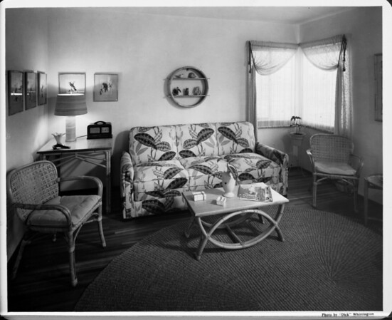 Home interior of 1948, living room, Liberty Magazine