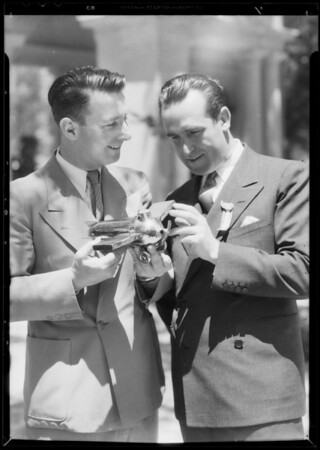Harold Lloyd and Cliff Henderson, Southern California, 1933