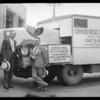 Diesel cross country trucks, Southern California, 1931