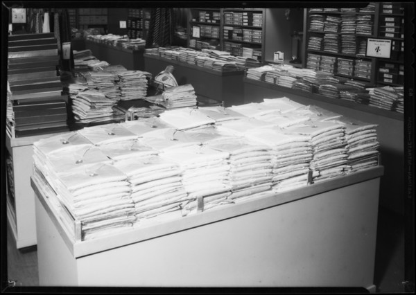 Table of shirts, Southern California, 1932
