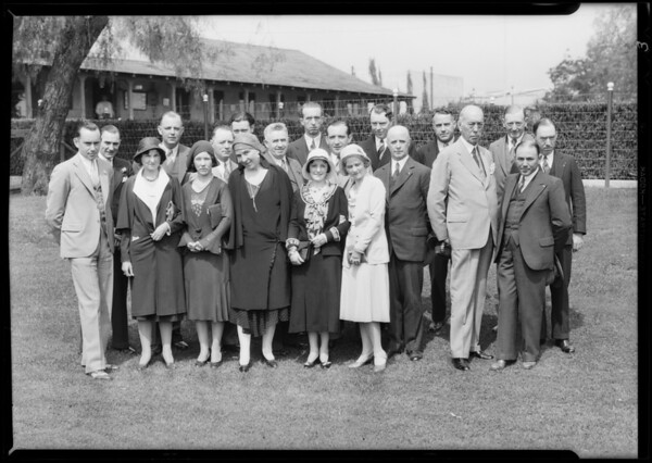 Group, etc, Hollywood Breakfast Club, Southern California, 1931