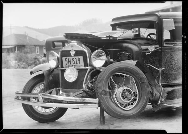 Cars in La Puente, Southern California, 1932