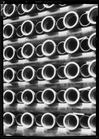 Pipe on Ducommun Street, Los Angeles, CA, 1932