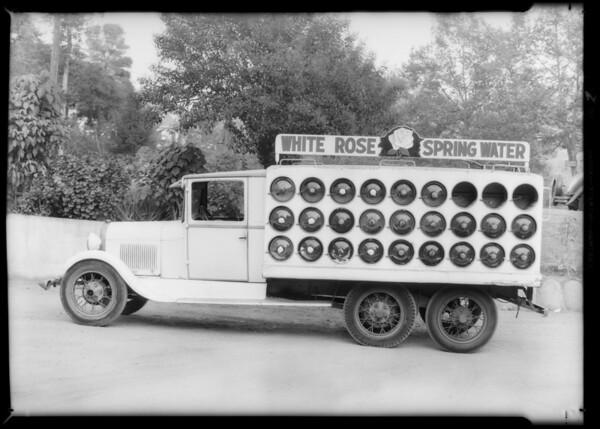 White Rose Water Co. case, South Pasadena, Southern California, 1933