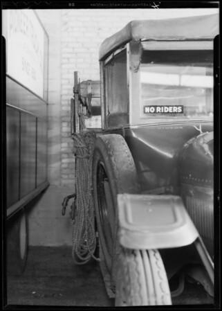 Case of Tyler vs Pioneer Trucking Co., Los Angeles, CA, 1933