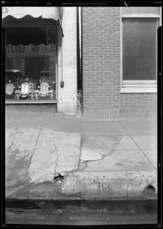 Sidewalk, 1125 South Los Angeles Street, Los Angeles, CA, 1933
