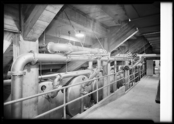 Filter rooms at Olympic pool, Los Angeles, CA, 1932
