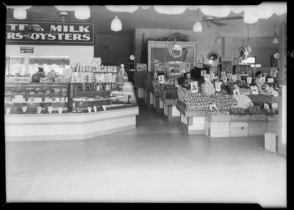 Billie Bird Market, West Main Street and Cedar Street, Alhambra, CA, 1933