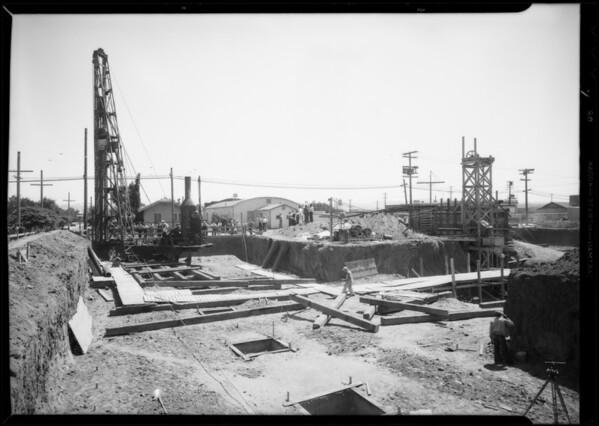 Pile driver, Van Nuys City Hall, Los Angeles, CA, 1932