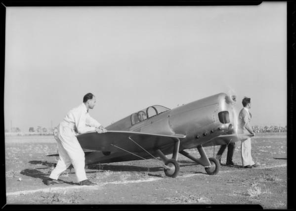 Ship at air races, Southern California, 1933