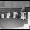 Refrigerator display at the Elks Club, Southern California, 1931
