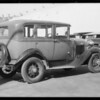 Ford sedan, Land & Pierson Garage, Glendale, CA, 1932
