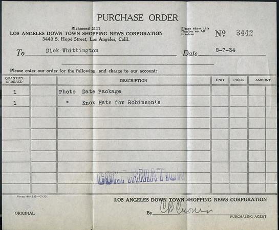 Desert Gold date pack, Southern California, 1934