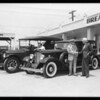 Old and new Packards, Southern California, 1933