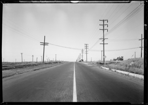 South Western Avenue, from 114th Street north to 107th Street, Los Angeles, CA, 1932