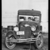 Packard sedan, owner Dr. Harry S. Fist, Ford delivery truck, Nassr & Azar, owners, Southern California, 1934
